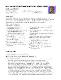 resume software engineering