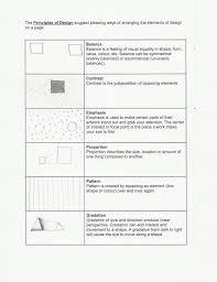 Elements And Principles Of Design Activities Elements Of Design Worksheet Badzz741