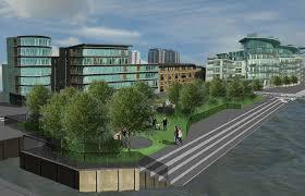 rendering for hermitage riverside memorial gardens in london