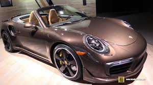 2018 porsche turbo s cabriolet. exellent turbo 2017 porsche 911 turbo s convertible  exterior and interior walkaround  2016 la auto show youtube in 2018 porsche turbo s cabriolet c