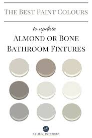the best paint colours to update a bathroom with almond or bone toilet sink