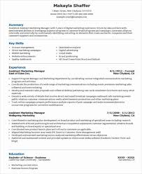 Assistant Marketing Manager Resume