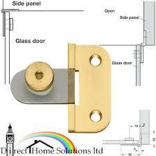 hafele matt brass 180 glass door hinge