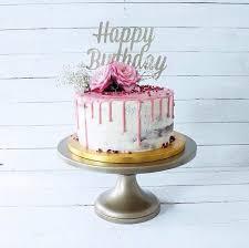 Silver Happy Birthday Cake Topper Fancy Cake Topper1st Etsy
