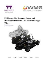 Fsae Chassis Design Report Es410 Report