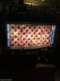 Brooks Atkinson Seating Chart Brooks Atkinson Theatre Rear Mezzanine View From Seat Best