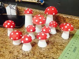 diy mushrooms decor diy styrofoam mushrooms party d on rustic ceramic mushroom home garden crafts decoration