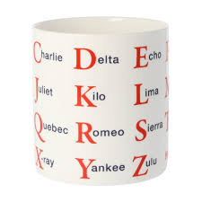 A spelling alphabet is a set of words used to stand for the letters of an alphabet in oral communication. Nato Phonetic Alphabet Large Mug