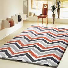 contemporary modern grey with orange indoor area rug lovely chevron regard to 13