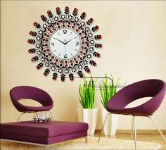luxury large living room wall clock european modern luxury garden creative mute iron diamond watch french