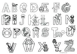 Free Coloring Pages For Preschoolers Alphabets Trustbanksurinamecom