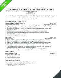 Sample Resume For Customer Service Representative Gorgeous Customer Service Rep Sample Resume Rabotnovreme