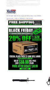 Black Friday Week Is Here 20 Off 20 Rebate On Federal
