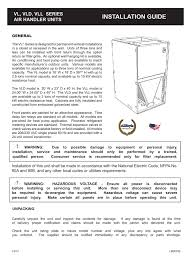 Allstyle Coil Piston Chart Installation Guide Vl Vld Vll Series Air Handler Units