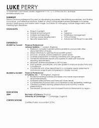 Finance Resume Template Elegant Free How To Make Resume Format