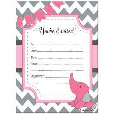 baby shower invitation blank templates pink and grey elephant baby shower invitations ba shower invitation
