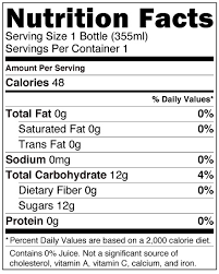 hopwater ginger nutrition facts