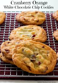 Orange And White Kitchen Cranberry Orange White Chocolate Chip Cookies
