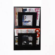 magazine racks for office. wall mounted two tier magazine rack racks for office