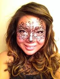 diy masquerade makeup everything done with only makeup you have at home