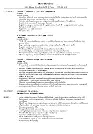 Resume For Computer Job Computer Vision Resume Samples Velvet Jobs 62