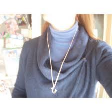 tiffany co alphabet c by elsa peretti pendant necklaces silver silvery ref 29475 joli closet