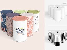 Canister Packaging Design Tin Canister Mockup Set By Mockup5 On Dribbble