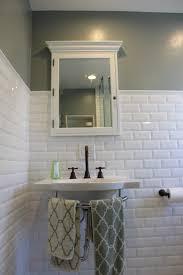 Beveled Subway Tile Bathroom