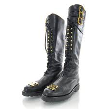 chanel combat boots. chanel leather cc combat boots 39 black. pinch/zoom chanel