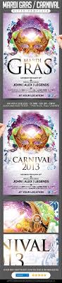 mardi gras carnival flyer summer nightclub and mask party event flyers