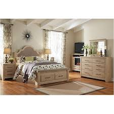 B261-167 Ashley Furniture Queen Upholstered Poster Bed