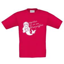 Mädchen Kinder T Shirt Eigentlich Bin Ich Eine Meerjungfrau