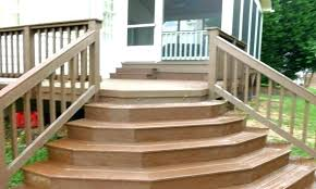 prefab outdoor staircase deck stairs steps handrails for wooden