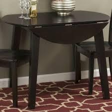 Simplicity Espresso Round Drop Leaf Dining Table 817017023522 Ebay