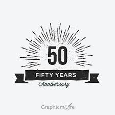 Label Design Free 50th Anniversary Retro Label Design Free Vector File Download