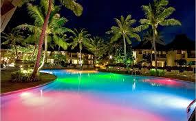 swimming pool lighting design. Interesting Lighting Outdoor Swimming Pool Lighting Design For Modern Resort Concept With I
