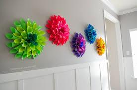 diy wall decor paper. Rainbow Paper Dahlia Flowers Diy Wall Decor