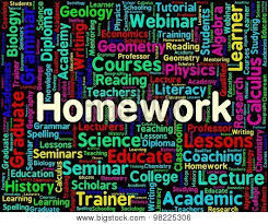 Homework Word Indicates Assignments Text And Education Poster Id