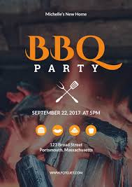 Bbq Poster Bbq Party Poster Design Template Template Fotojet
