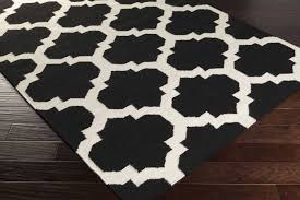 artistic weavers york harlow black white area rug and checd kitchen furniture rugs handwoven blackivory furry large purple turquoise striped runner