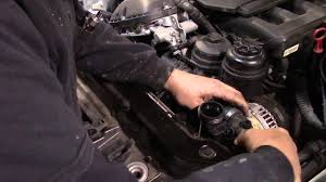 2003 bmw water pump replacement how to