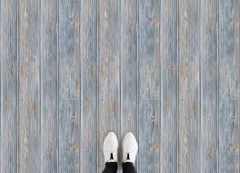 platform wood light blue feet vinyl flooring