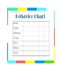 Toddler Behavior Chart Template Toddler Reward Chart Printable
