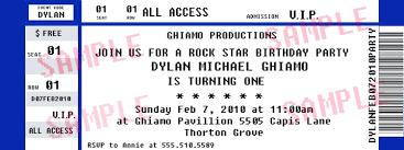 Concert Ticket Invitation Template Template Concert Ticket Invitation Template 7