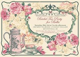 Tea Party Invitations Free Template Free Vintage Tea Party Invitation Template In 2019 Tea