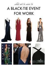 Black Tie Theme 33 Black Tie Affair Attire What To Wear To A Creative Black