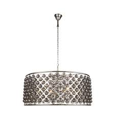 elegant lighting madison 10 light polished nickel royal cut silver shade grey pendant