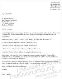 Cover Letter For Cv Pe Teacher
