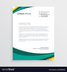Letterhead Designs Templates Green Visual Identity Letterhead Design Template Vector Image