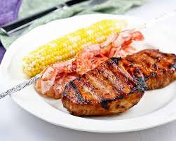 grilled pork chops roti n rice